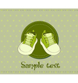 baby shoes arrival card