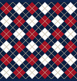 blue and red argyle harlequin seamless pattern vector image vector image