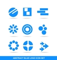 Blue icon logo element set vector image vector image