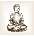 Buddha statue hand drawn sketch style vector image vector image
