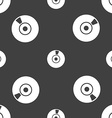 CD or DVD icon sign Seamless pattern on a gray vector image vector image