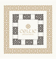 celtic knot braided frame border ornament kit vector image