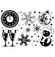 Christmas element vector image vector image