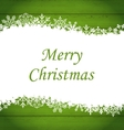 Christmas Frame Made of Snowflakes vector image vector image