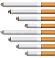 cigarettes - orange filter vector image vector image