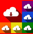 Cloud technology sign set of icons with