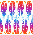 colorful feathers seamless pattern vector image
