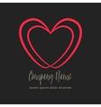 conceptual double heart icon vector image