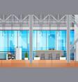 coworking space interior open coworking center vector image vector image