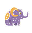 cute cartoon elephant character sitting side view vector image