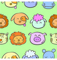 doodle of animal colorful style cute vector image vector image