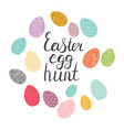 easter egg hand drawn color vector image