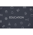 Education Thin Line Icons vector image