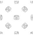 fish tin can pattern seamless vector image vector image