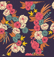floral jungle with snakes seamless pattern vector image vector image