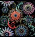 floral seamless mandalas pattern elegance vector image