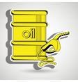 gasoline and oil isolated icon design vector image vector image