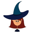 girl with witch hat on white background vector image