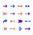 gradient arrow collection vector image