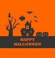 halloween celebration logo vector image