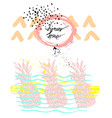 hand drawn cute graphic abstract pineapple vector image
