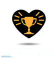 heart icon a symbol love valentine day vector image vector image