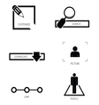 icon set silhouette vector image vector image