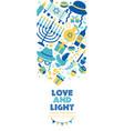 jewish holiday hanukkah banner and invitation vector image vector image