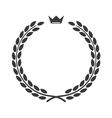 Laurel wreath icon flat crown vector image vector image