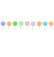 Lollipops horizontal banner vector image
