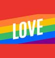 love lgbt flag poster banner vector image