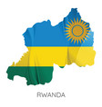 map rwanda with flag vector image