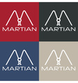 martian monogram vector image