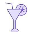 martini flat icon drink violet icons in trendy vector image vector image