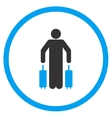 Passenger Luggage Circled Icon vector image vector image