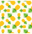 pineapple seamless pattern flat design summer and vector image vector image