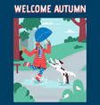 poster welcome autumn concept vector image