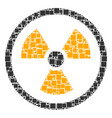 radioactive composition of squares and circles vector image vector image