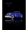 Retro car vintage collection classic garage sign vector image
