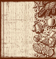 retro christmas background brown vector image