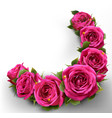 roses flowers festive border congratulation best vector image