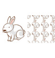 seamless background design with white bunny vector image