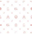 secure icons pattern seamless white background vector image vector image