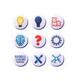 set icons for ideas innovation and inspiration vector image