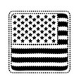shield in square shape with flag united states of vector image vector image