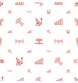 signal icons pattern seamless white background vector image vector image
