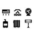 six heat icons vector image