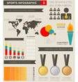 Sport infographic elements vector image vector image