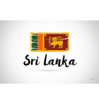 sri lanka country flag concept with grunge design vector image
