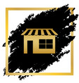 store sign golden icon at vector image